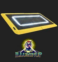 Flood Light Floor Mat lasts 10-15 years.