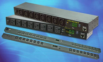Rack Mount PDUs offer sequencing, remote monitoring.