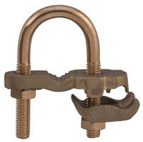 Bronze Waterpipe Clamps safely deliver required grounding.