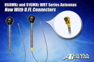 U.FL Connectors for WRT Series Antennas in 868MHz and 916MHz