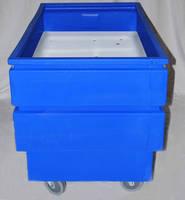 Recycling Collection Cart facilitates ergonomic material transfer.