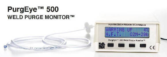 Weld Purge Monitor has integrated pump for extracting gas sample.