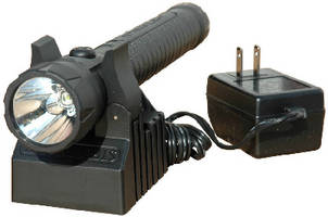 Rechargeable LED Flashlight features explosionproof design.