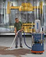 Industrial-Duty Vacuum cleans high volumes of dry materials.