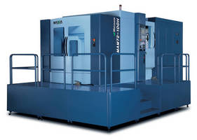 5-Axis Horizontal Machining Center suits varied lot machining.
