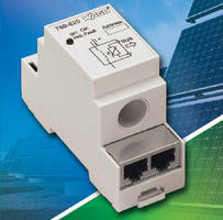 DIN-Rail DC Current Sensors optimize PV energy production.