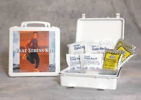 First Aid Kits are equipped to address heat stress.