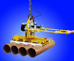Below-the-Hook Vacuum Lifter protects heavy pipes and tubes.