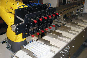 Robotic Cartoner Infeed integrates with new or existing machines.