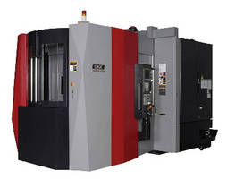 Horizontal Machining Center features 50 taper spindle.