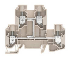 Dual Level Terminal Block suits limited space applications.