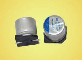 SMD Aluminum-Polymer Hybrid Capacitors operate up to +135°C.