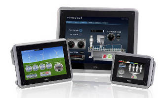 Touch Panel HMIs come in 4.3, 7, and 10.4 in. display sizes.
