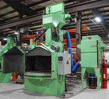 Rotary Table Twin Wheel Blast System suits low-profile work.