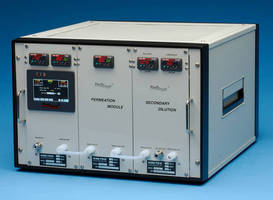 Gas Standards Generator offers variable concentration at constant flow.