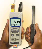 Handheld Data Logger records temperature and humidity.