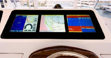 Display Console flush mounts to marine bridges.