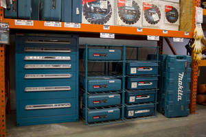 Lyon Modular Drawer Cabinets for Makita at Home Depot Rental Centers