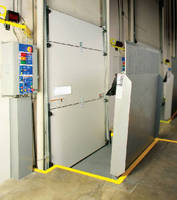 Dock Door works with vertical storing dock levelers.
