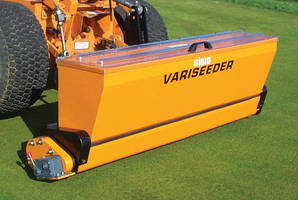 Zero-Max Adjustable Speed Drives Seed Lawns and Distribute Fertilizer