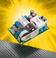 AC-DC Power Supply delivers 60 W from 2 x 3 in. format.
