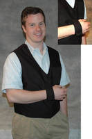 Arm Sling Vest reduces stress on wearer's neck.