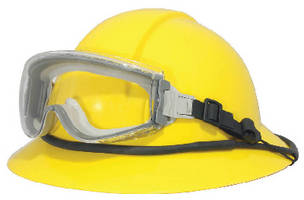 Safety Goggle Retainer attaches to most hard hats.