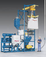 Skid-Mounted Pneumatic Bulk Bag Discharging System Transfers to Silos