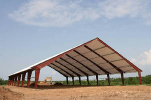 Tension Fabric Buildings feature rigid structural steel frame.