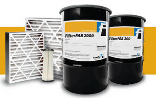 Fast-Setting Adhesives aid general air filter assembly.