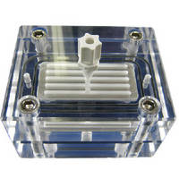 Acrylic Crossflow Cell enables visual monitoring.