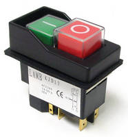 Heavy-Duty Pushbutton Switch integrates safety protection.