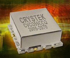 Voltage Controlled Oscillator delivers +5 dBm output power.