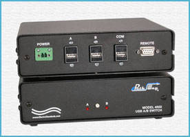 USB A/B Switch offers off-site switch monitoring and control.