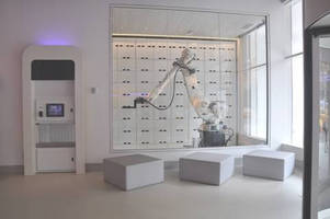 An ABB Industrial Robot Provides Automated Luggage Storage and Retrieval at New Yotel in Manhattan