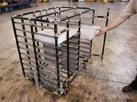 "New Tray Cart ""With Doors"" Securely Transports Small Parts in Sequence for Assembly"