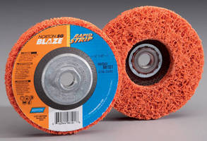 Non-Woven Right Angle Disc performs stripping, blending.