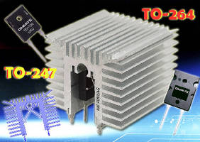 Heat Sinks suit high power density applications.