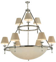 Dual-Tier Chandelier complements range of interiors.