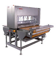 Ultrasonic Guillotine Cutter features hygienic, open design.
