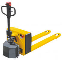 Ergonomic Pallet Truck features electric drive and manual lift.