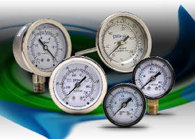Pressure Gauges and Thermometers feature mechanical dials.