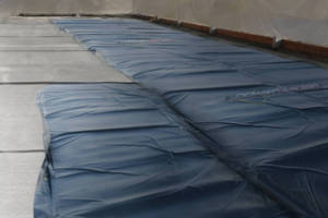 Heating Blankets accelerate concrete curing in cold weather.