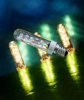 LED T4 Tube Bulb replaces 15 W filament bulbs.