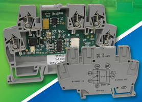 Voltage-to-Frequency Converters have DIN rail-mount design.