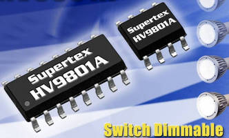 Dimmable LED Driver IC works with any standard light switch.