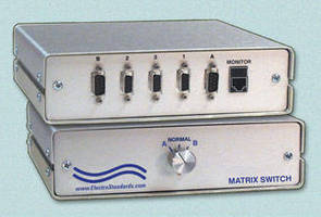 DB9 Matrix Switch promotes access to shared backup data line/channel.