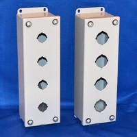 Pre-Drilled Push Button Box protects switching components.