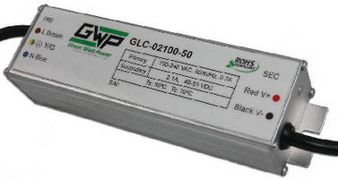 AC/DC LED Power Supplies deliver 50 W output power.