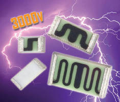 Thick Film Chip Resistors handle up to 3,000 V.